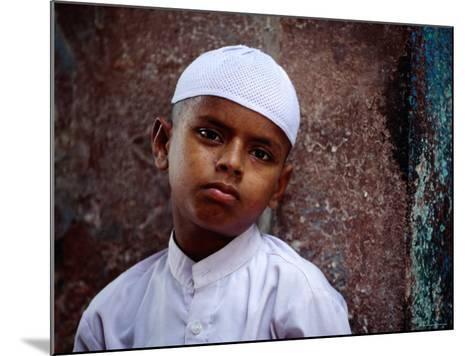 Muslim Boy in Chandni Chowk, Delhi, India-Daniel Boag-Mounted Photographic Print