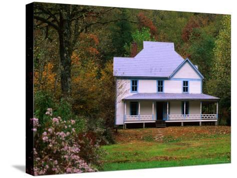 Caldwell House, Cataloochee, Great Smoky Mountains National Park, Tennessee-John Elk III-Stretched Canvas Print