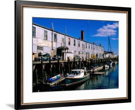 Old Port Exchange Area, Fishing Docks, Portland, Maine-John Elk III-Framed Art Print