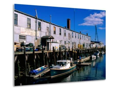 Old Port Exchange Area, Fishing Docks, Portland, Maine-John Elk III-Metal Print