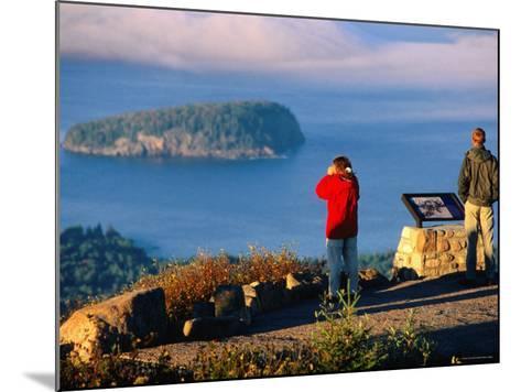 Cadillac Mountain, Visitors on Summit, Evening, Acadia National Park, Maine-John Elk III-Mounted Photographic Print