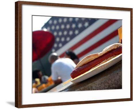 Hot Dogs at Nathan's, Coney Island, New York City, New York-Dan Herrick-Framed Art Print