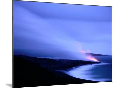 Lava Flow at Dusk, Volcanoes National Park, Hawaii, Hawaii-Holger Leue-Mounted Photographic Print