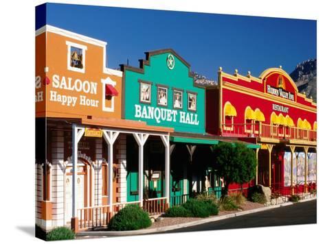 Colourful Western-Style Facade Near Sabino Canyon, Tucson, Arizona-David Tomlinson-Stretched Canvas Print