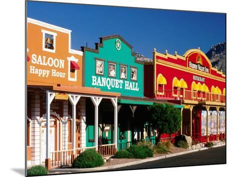 Colourful Western-Style Facade Near Sabino Canyon, Tucson, Arizona-David Tomlinson-Mounted Photographic Print