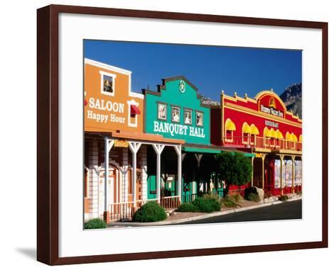 Colourful Western-Style Facade Near Sabino Canyon, Tucson, Arizona-David Tomlinson-Framed Art Print