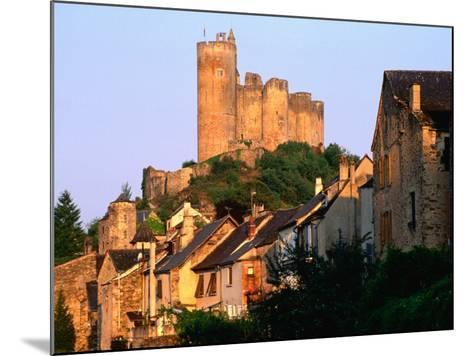 Castle Towering Above Village Houses, Aveyron Region, Najac, Midi-Pyrenees, France-David Tomlinson-Mounted Photographic Print