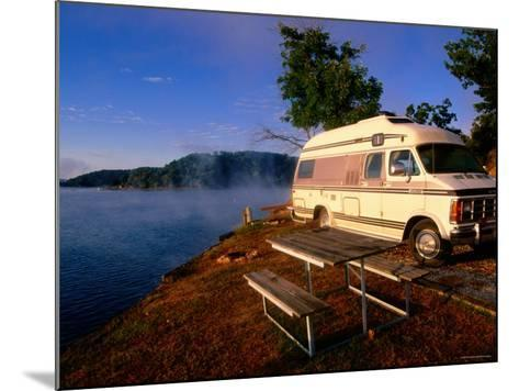 Campervan Parked Beside Lake, Ozark National Park, Missouri-John Elk III-Mounted Photographic Print