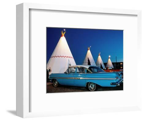 Wigwams and Old Car, Wigwam Motel, Route 66, Holbrook, Arizona-Witold Skrypczak-Framed Art Print