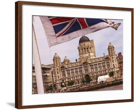 Port of Liverpool Building from the Mersey Ferry, Liverpool, England-Glenn Beanland-Framed Art Print