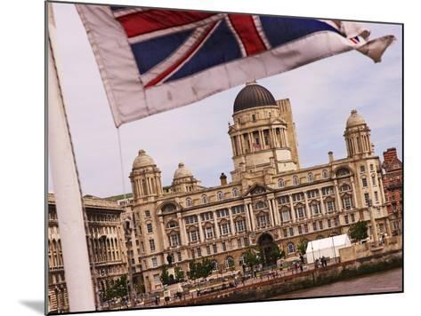Port of Liverpool Building from the Mersey Ferry, Liverpool, England-Glenn Beanland-Mounted Photographic Print