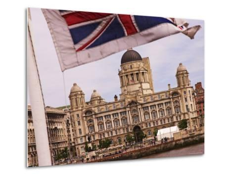 Port of Liverpool Building from the Mersey Ferry, Liverpool, England-Glenn Beanland-Metal Print