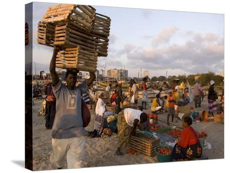 People at Beach Market, Beira, Sofala, Mozambique-Ariadne Van Zandbergen-Stretched Canvas Print