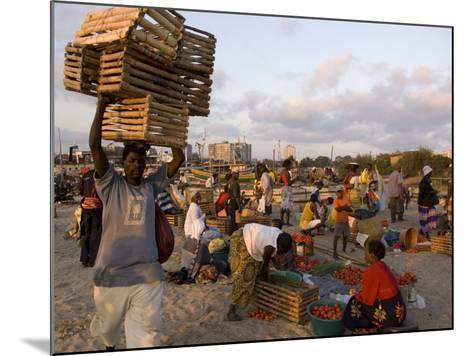 People at Beach Market, Beira, Sofala, Mozambique-Ariadne Van Zandbergen-Mounted Photographic Print