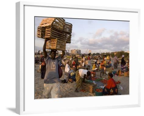 People at Beach Market, Beira, Sofala, Mozambique-Ariadne Van Zandbergen-Framed Art Print