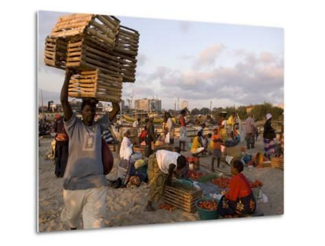 People at Beach Market, Beira, Sofala, Mozambique-Ariadne Van Zandbergen-Metal Print
