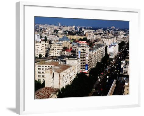 Nicolae Balcescu Blvd, Bucharest, Romania-Richard I'Anson-Framed Art Print