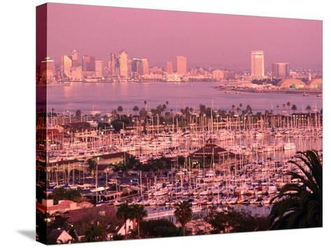 Downtown Skyline at Sunset, San Diego, California-John Elk III-Stretched Canvas Print