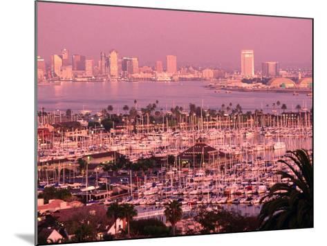 Downtown Skyline at Sunset, San Diego, California-John Elk III-Mounted Photographic Print