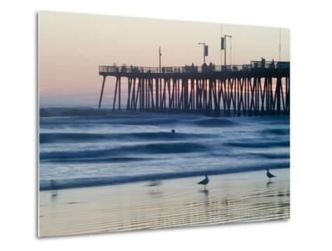 Pier at Sunset, Pismo Beach, California-Brent Winebrenner-Metal Print