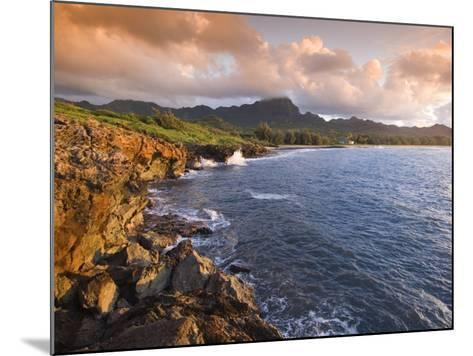 Poipu Beach, Cliffs, Kauai, Hawaii-John Elk III-Mounted Photographic Print
