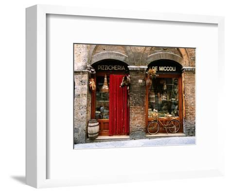 Bicycle Parked Outside Historic Food Store, Siena, Tuscany, Italy-John Elk III-Framed Art Print