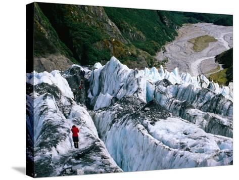 Walkers on Franz Josef Glacier, Franz Josef Glacier, New Zealand-Glenn Van Der Knijff-Stretched Canvas Print