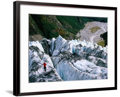 Walkers on Franz Josef Glacier, Franz Josef Glacier, New Zealand-Glenn Van Der Knijff-Framed Art Print