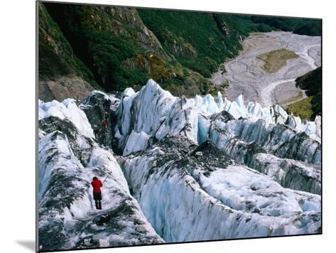 Walkers on Franz Josef Glacier, Franz Josef Glacier, New Zealand-Glenn Van Der Knijff-Mounted Photographic Print