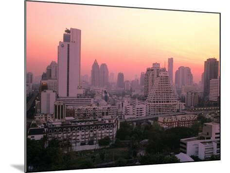 Sunset over City Buildings, Bangkok, Thailand-Stu Smucker-Mounted Photographic Print