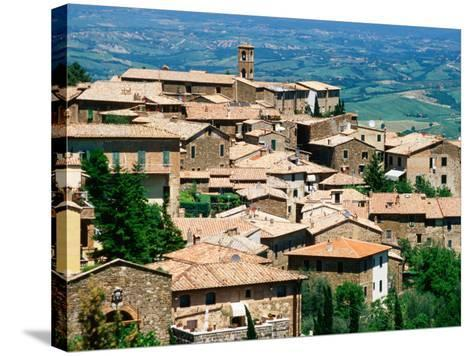 Hilltop Village of Montalcino Perched Above Val d'Orcia, Tuscany, Italy-David Tomlinson-Stretched Canvas Print