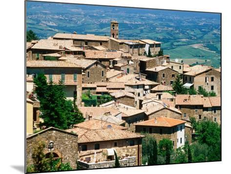 Hilltop Village of Montalcino Perched Above Val d'Orcia, Tuscany, Italy-David Tomlinson-Mounted Photographic Print