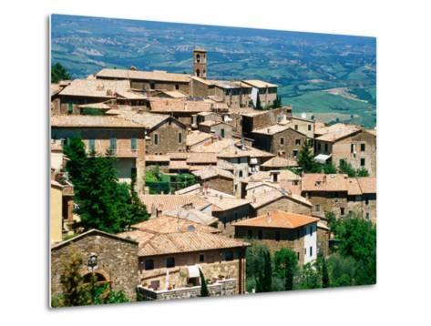 Hilltop Village of Montalcino Perched Above Val d'Orcia, Tuscany, Italy-David Tomlinson-Metal Print