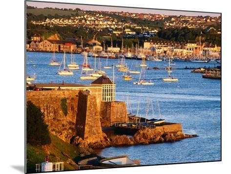 Entrance to Sutton Harbour at Sunset, Plymouth, England-David Tomlinson-Mounted Photographic Print