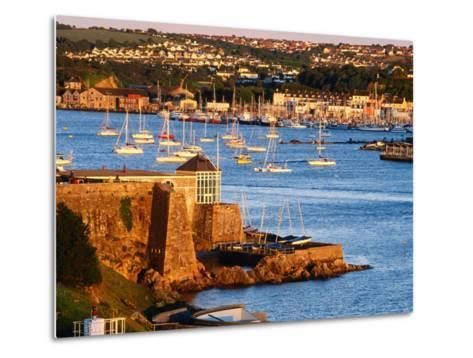 Entrance to Sutton Harbour at Sunset, Plymouth, England-David Tomlinson-Metal Print