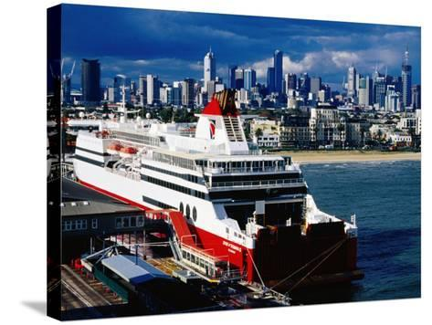 Tasmania Ferry, Station Pier, Port Melbourne, Melbourne, Victoria, Australia-Richard Cummins-Stretched Canvas Print