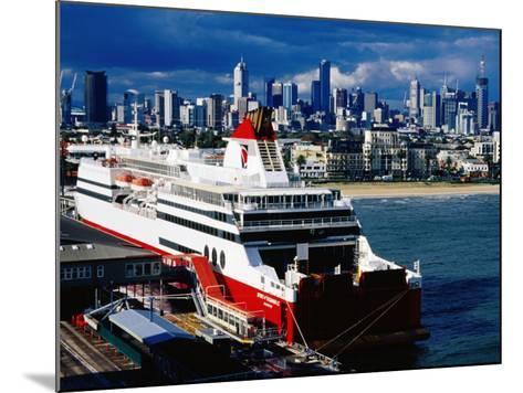 Tasmania Ferry, Station Pier, Port Melbourne, Melbourne, Victoria, Australia-Richard Cummins-Mounted Photographic Print