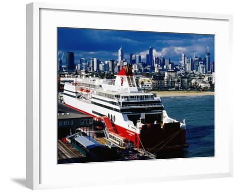 Tasmania Ferry, Station Pier, Port Melbourne, Melbourne, Victoria, Australia-Richard Cummins-Framed Art Print