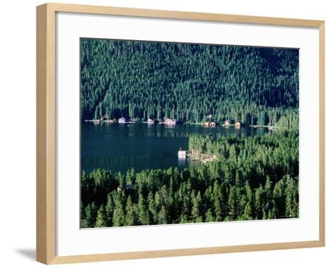 Lakefront Homes, Grand Lake, Rocky Mountain National Park, Colorado-Holger Leue-Framed Art Print