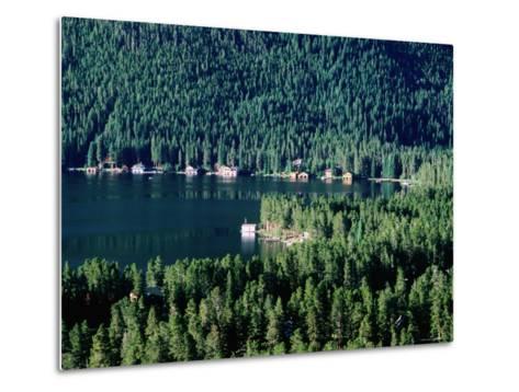 Lakefront Homes, Grand Lake, Rocky Mountain National Park, Colorado-Holger Leue-Metal Print