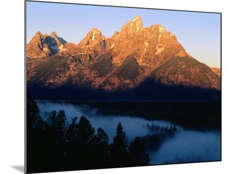 Grand Teton at Sunrise, from Snake River Overlook, Grand Teton National Park, Wyoming-Holger Leue-Mounted Photographic Print