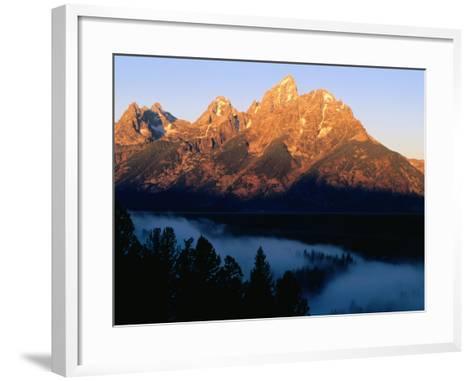 Grand Teton at Sunrise, from Snake River Overlook, Grand Teton National Park, Wyoming-Holger Leue-Framed Art Print