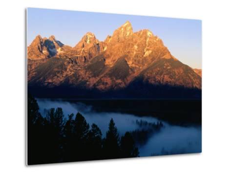 Grand Teton at Sunrise, from Snake River Overlook, Grand Teton National Park, Wyoming-Holger Leue-Metal Print