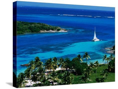 Tobago Cays Seen from Petit Rameau, Tobago Cays-Holger Leue-Stretched Canvas Print