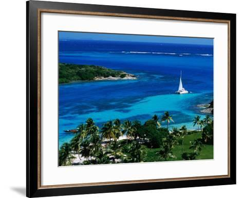Tobago Cays Seen from Petit Rameau, Tobago Cays-Holger Leue-Framed Art Print