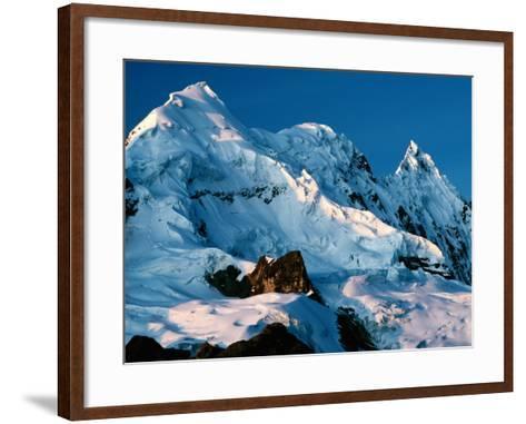 Mountain Peaks Under Snow on Vilcanota Trek, Vilcanota, Cuzco, Peru-Richard I'Anson-Framed Art Print