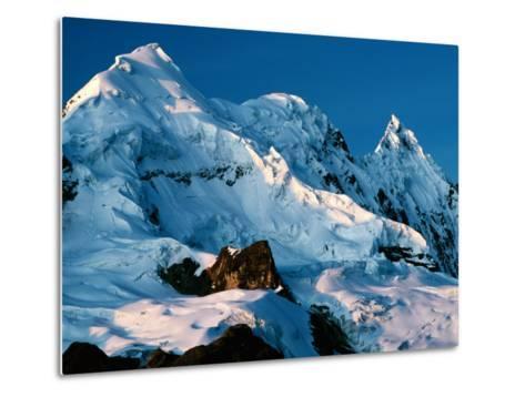 Mountain Peaks Under Snow on Vilcanota Trek, Vilcanota, Cuzco, Peru-Richard I'Anson-Metal Print