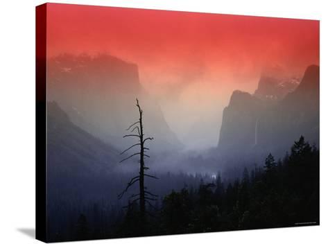The Angular Beauty of the Yosemite Valley Is Awash with Natural Pastel Light Tones-Thomas Winz-Stretched Canvas Print