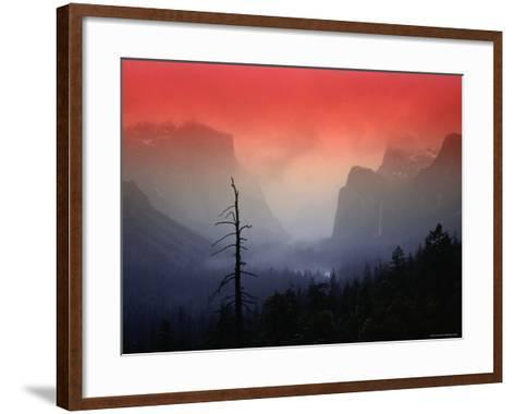 The Angular Beauty of the Yosemite Valley Is Awash with Natural Pastel Light Tones-Thomas Winz-Framed Art Print