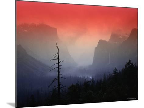 The Angular Beauty of the Yosemite Valley Is Awash with Natural Pastel Light Tones-Thomas Winz-Mounted Photographic Print